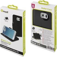 Muvit Book Case Voor Samsung Galaxy S6 - Zwart