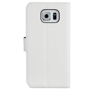 Muvit Book Case Voor Samsung Galaxy S6 - Wit
