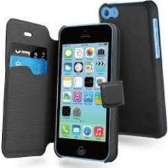 Muvit Book Case Voor Iphone 5/5S -Zwart