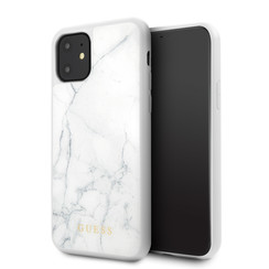 Apple iPhone 11 Wit Guess Backcover hoesje GUHCN61HYMAWH - Glas - GUHCN61HYMAWH