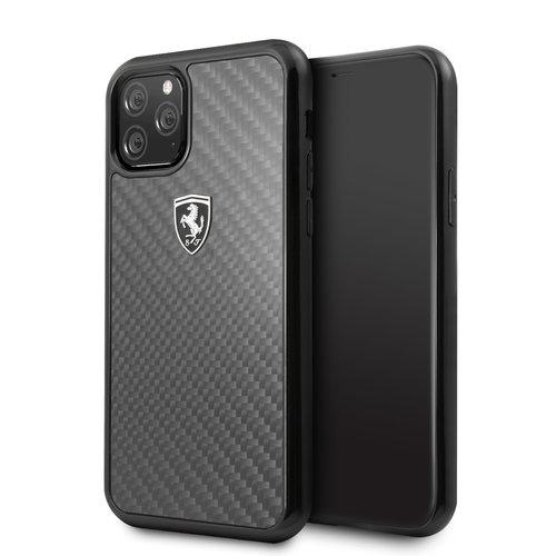 Ferrari Apple iPhone 11 Pro Ferrari Back-Cover hul Schwarz FEHCAHCN58BK - Carbon Fiber