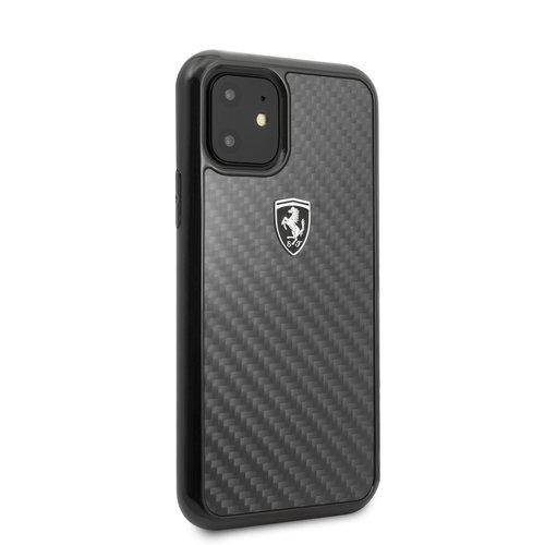 Ferrari Apple iPhone 11 Ferrari Back-Cover hul Schwarz FEHCAHCN61BK - Carbon Fiber