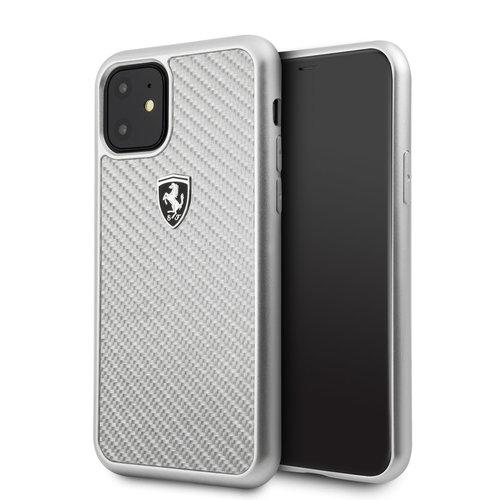 Ferrari Apple iPhone 11 Ferrari Back-Cover hul Silber FEHCAHCN61SI - Carbon Fiber