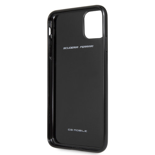 Ferrari Apple iPhone 11 Pro Max Ferrari Back-Cover hul Schwarz FEHCAHCN65BK - Carbon Fiber