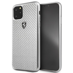 Apple iPhone 11 Pro Max Ferrari Back cover coque FEHCAHCN65SI Argent