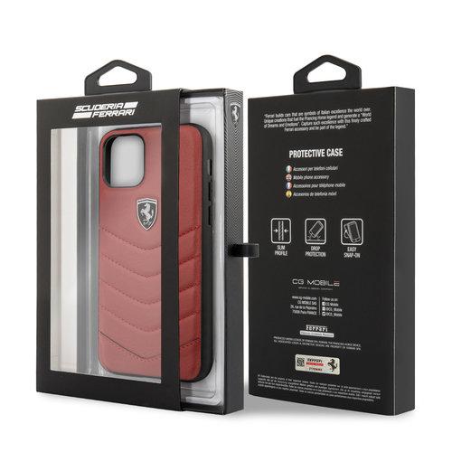 Ferrari Apple iPhone 11 Ferrari Back-Cover hul Rot FEHQUHCN61RE - Echt leer