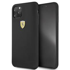 Apple iPhone 11 Pro Max Zwart Ferrari Backcover hoesje FESSIHCN65BK - TPU - FESSIHCN65BK