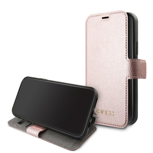 Guess Apple iPhone 11 Guess Book-Case hul Rose Gold GUFLBKSN61IGLRG - Echt leer