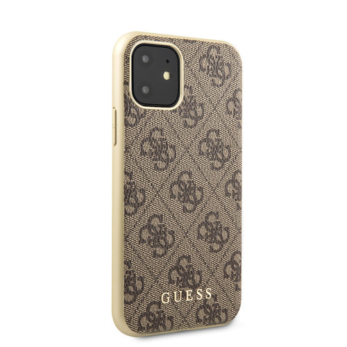 Guess Apple iPhone 11 Guess Back-Cover hul Braun GUHCN61G4GB - TPU