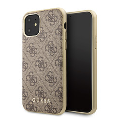 Apple iPhone 11 Bruin Guess Backcover hoesje GUHCN61G4GB - TPU - GUHCN61G4GB