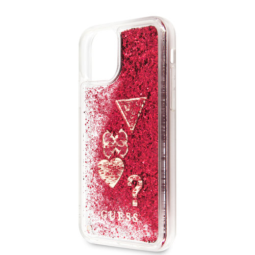 Guess Apple iPhone 11 Back cover case Guess GUHCN61GLHFLRA Raspberry for iPhone 11