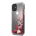 Guess Apple iPhone 11 Guess Back-Cover hul Raspberry GUHCN61GLHFLRA - Echt leer