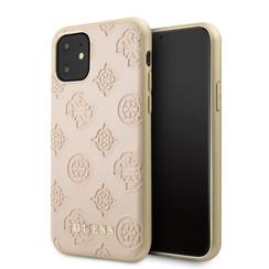 Apple iPhone 11 Roze Guess Backcover hoesje GUHCN61PELLP - Echt leer - GUHCN61PELLP