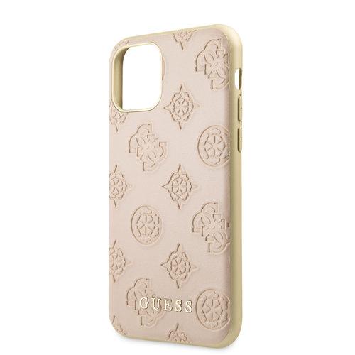 Guess Apple iPhone 11 Guess Back-Cover hul Pink GUHCN61PELLP - Echt leer