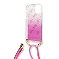 Guess Apple iPhone 11 Guess Back-Cover hul Pink GUHCN61WO4GPI - Electroplated