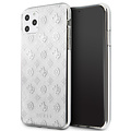 Guess Apple iPhone 11 Pro Max Guess Back-Cover hul Silber GUHCN65TPESI - Echt leer