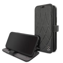 Apple iPhone 11 Zwart Mercedes-Benz Booktype hoesje MEFLBKN61DIQBK - Echt leer - MEFLBKN61DIQBK