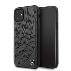 Apple iPhone 11 Zwart Mercedes-Benz Backcover hoesje MEHCN61DIQBK - Echt leer - MEHCN61DIQBK