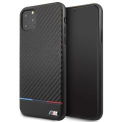 Apple iPhone 11 Pro Max BMW Back-Cover hul Schwarz BMHCN65PUCARTCBK - Echt leer