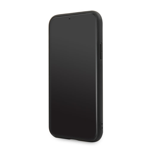 BMW Apple iPhone 11 BMW Back-Cover hul Schwarz BMHCN61PELBK - Echt leer