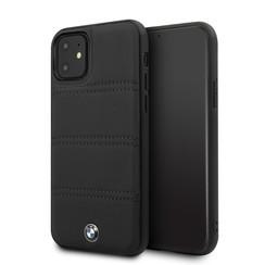 Apple iPhone 11 Zwart BMW Backcover hoesje BMHCN61PELBK - Echt leer - BMHCN61PELBK