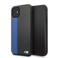 Apple iPhone 11 BMW Back-Cover hul Blau BMHCN61MCARBL - Echt leer