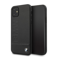 Apple iPhone 11 BMW Back-Cover hul Schwarz BMHCN61LLSB - Echt leer