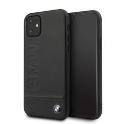 Apple iPhone 11 Zwart BMW Backcover hoesje BMHCN61LLSB - Echt leer - BMHCN61LLSB