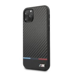 Apple iPhone 11 Pro BMW Back-Cover hul Schwarz BMHCN58PUCARTCBK - Echt leer