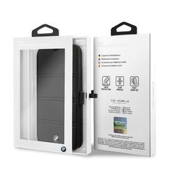 Apple iPhone 11 Pro Max BMW Book-Case hul Schwarz BMFLBKSN65PELB - Echt leer