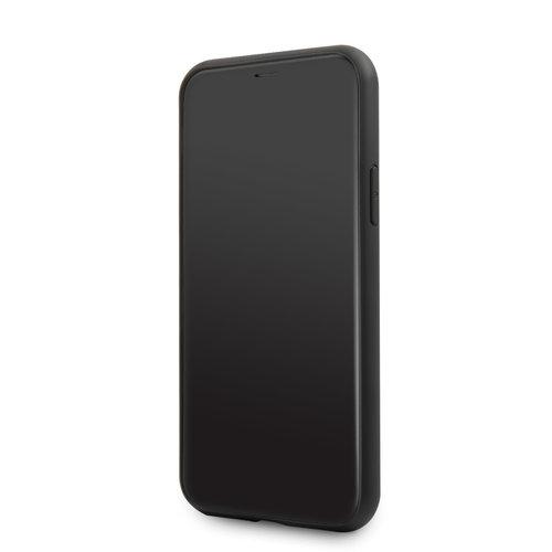 Karl Lagerfeld Apple iPhone 11 Karl Lagerfeld Back-Cover hul Schwarz KLHCN61NYBK - Echt leer