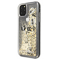 Karl Lagerfeld Apple iPhone 11 Pro Max Karl Lagerfeld Back-Cover hul Schwarz KLHCN65ROGO    - Echt leer