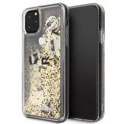 Apple iPhone 11 Pro Max Zwart Karl Lagerfeld Backcover hoesje KLHCN65ROGO    - Echt leer - KLHCN65ROGO