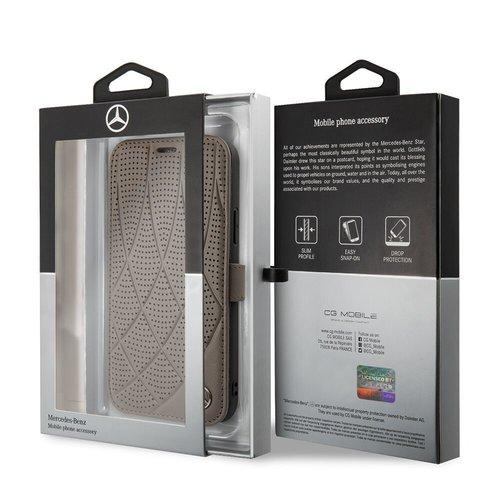 Mercedes-Benz Apple iPhone 11 Mercedes-Benz Book-Case hul Braun MEFLBKN61DIQBR - Echt leer