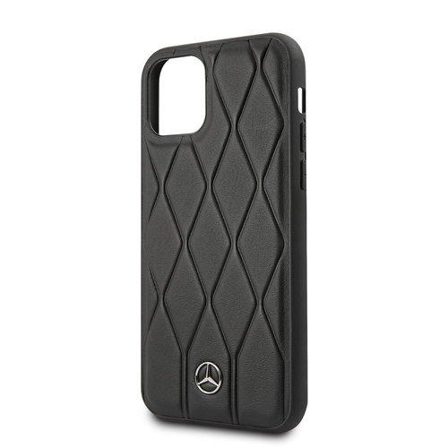 Mercedes-Benz Apple iPhone 11 Mercedes-Benz Back-Cover hul Schwarz MEHCN61MULBK - Echt leer