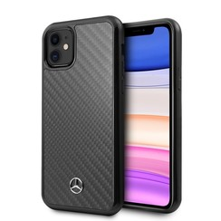 Apple iPhone 11 Zwart Mercedes-Benz Backcover hoesje MEHCN61RCABK - Carbon Fiber - MEHCN61RCABK