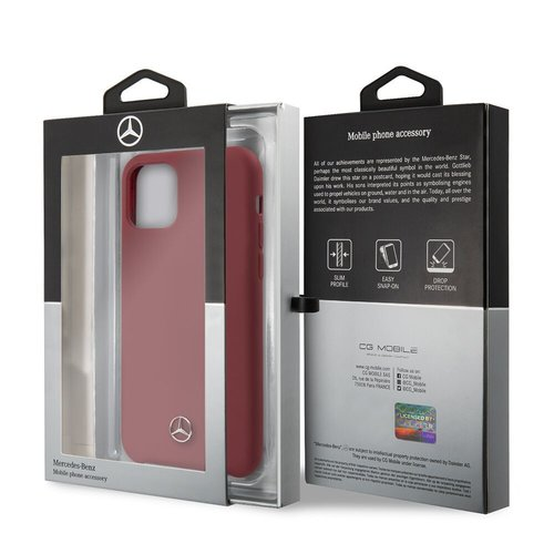 Mercedes-Benz Apple iPhone 11 Mercedes-Benz Back-Cover hul Rot MEHCN61SILRE - TPU