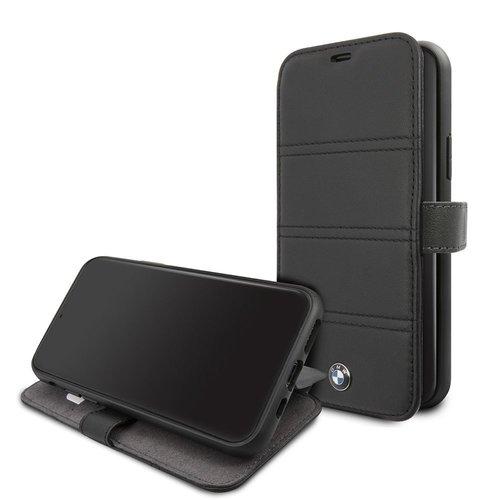 BMW Apple iPhone 11 BMW Book-Case hul Schwarz BMFLBKSN61PELB - Echt leer