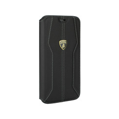 Lamborghini Apple iPhone 11 Pro Zwart Booktype hoesje Lambo Sport