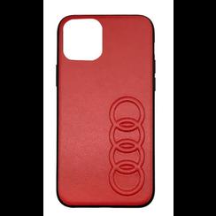 Audi Apple iPhone 11 Pro Max Rood Backcover hoesje TT Serie - Kunstleer