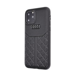 Audi Apple iPhone 11 Pro Max Zwart Backcover hoesje Q8 Serie - Genuine Leather