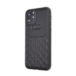 Audi Apple iPhone 11 Pro Zwart Backcover hoesje Q8 Serie - Genuine Leather