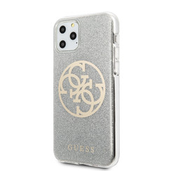 Guess Apple iPhone 11 Pro Grijs Backcover hoesje - GUHCN58PCUGLLG
