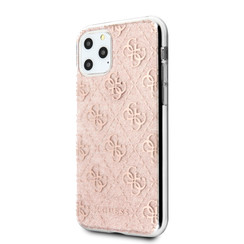 Guess Apple iPhone 11 Pro Roze Backcover hoesje - GUHCN58PCU4GLPI