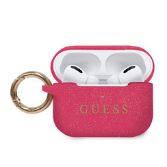 Guess AirPod Pro case with ring - fuschia