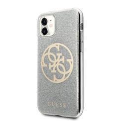 Guess Apple iPhone 11 Grey Back cover case - GUHCN61PCUGLLG