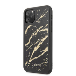 Guess Apple iPhone 11 Pro max Goud Backcover hoesje - GUHCN65MGGBK