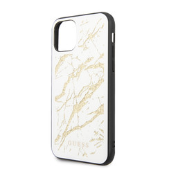Guess Apple iPhone 11 Goud Backcover hoesje - GUHCN61MGGWH