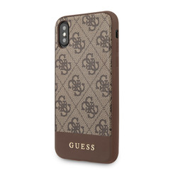 Guess Apple iPhone X-Xs Bruin Backcover hoesje - GUHCPXG4GLBR