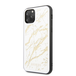 Guess Apple iPhone 11 Pro Max Goud Backcover hoesje - GUHCN65MGGWH